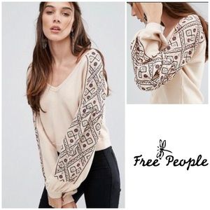 Free People Señorita Embellished Sweatshirt